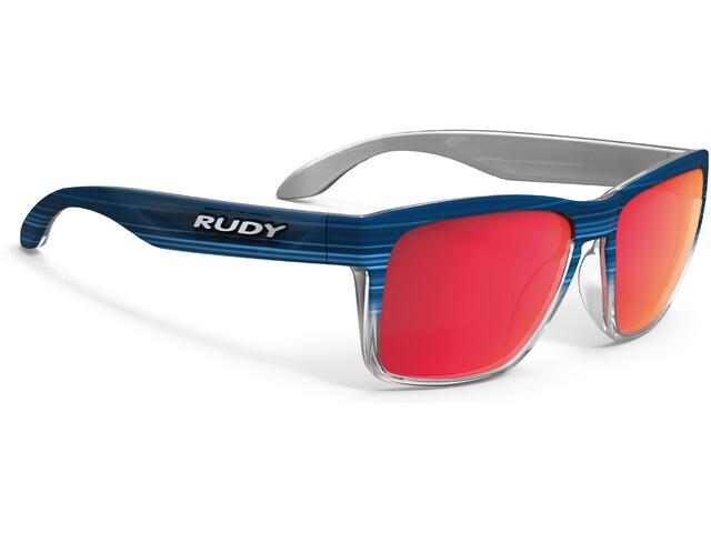 Rudy Project Spinhawk Cykelbriller, blue streaked matte - polar 3fx hdr multilaser red
